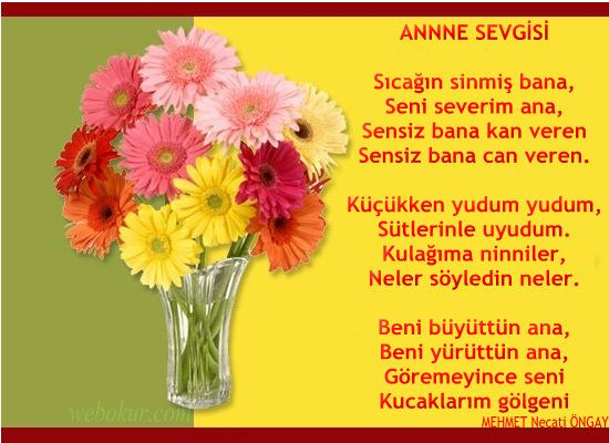 Anneler Günü Şiiri