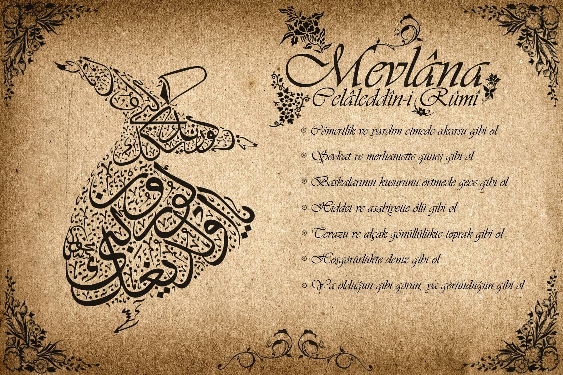 Mevlana Celalettin Rumi Sözleri