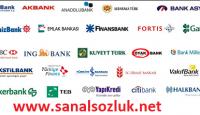 Bankaların Sıralı İsimleri Listesi