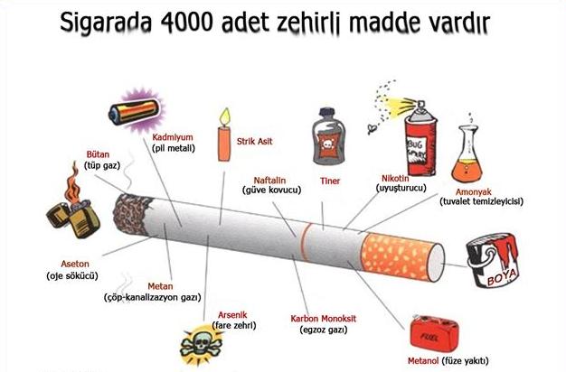 Sigarada Bulunan Zehirler